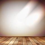 Lichte muur met een vlekverlichting. EPS 10 Royalty-vrije Stock Afbeeldingen