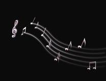 Lichte Muzikale Score Royalty-vrije Stock Afbeeldingen