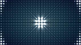 Lichte Naadloze Achtergrond De cirkelbol steekt Zaal Animatieachtergrond aan Het heldere schijnwerpers aanzetten en weg royalty-vrije illustratie