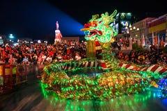Lichte omhoog groene draak stock fotografie