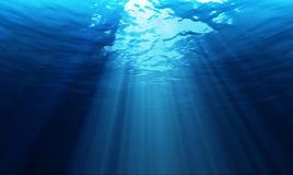 Lichte onderwater Royalty-vrije Stock Foto's