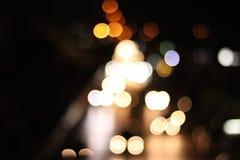Lichte onduidelijk beeld bokeh nacht stock fotografie