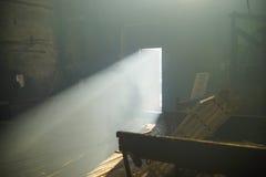 Lichte open deur Royalty-vrije Stock Afbeelding