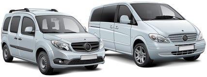 Lichte passagiersbestelwagen en MPV Royalty-vrije Stock Afbeeldingen