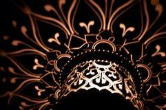 Lichte patronen op dark. Stock Afbeelding