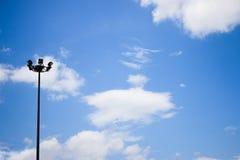 lichte pijler op hemel Royalty-vrije Stock Afbeelding