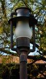 Lichte post met bomen royalty-vrije stock foto