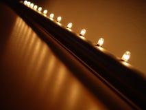 Lichte rij Stock Foto