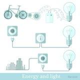 Lichte schema van de concepten het vlakke energie Stock Foto