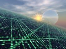 Lichte Serie over Horizon vector illustratie
