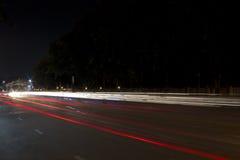 Lichte Slepen op de Weg Stock Afbeeldingen