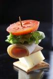 Lichte snack - kaassandwich royalty-vrije stock fotografie