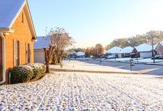 Lichte Sneeuw in Montgomery Alabama Stock Foto's