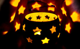 Lichte sterren over de schaduwen Royalty-vrije Stock Afbeelding