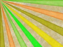 Lichte stralen van de zonillustratie op oud document Royalty-vrije Stock Afbeelding