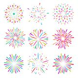 Lichte stralen van uitbarsting vector illustratie
