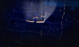 Lichte stralingsfiguurzaag Stock Foto's