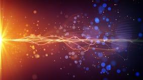 Lichte streep en deeltjes abstracte achtergrond Royalty-vrije Stock Afbeeldingen