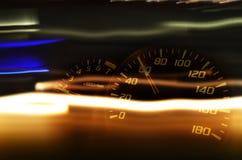 Lichte Strook en Snelheidswijzerplaat Stock Afbeeldingen