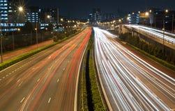 Lichte strook op weg 3 Royalty-vrije Stock Afbeelding