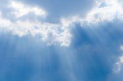 Lichte stroom van de blauwe hemel Royalty-vrije Stock Foto