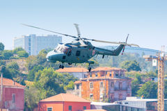 Lichte toneelhelikopter Stock Foto's