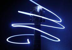 Lichte tornado en gitaar royalty-vrije stock foto's