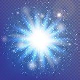 Lichte uitbarsting Stock Afbeelding