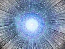 Lichte uitbarsting met sterren Stock Fotografie