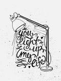 Lichte van letters voorziende illustratie vector illustratie