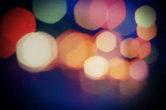 Lichte vlekken van de nachtstad Vage achtergrond Eleme Stock Afbeeldingen