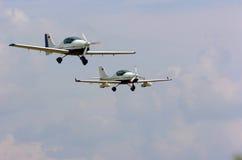 Lichte vliegtuigen Stock Foto