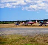 Lichte Vliegtuigen in Aldinga Royalty-vrije Stock Afbeeldingen