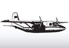 Lichte vliegtuigen tijdens de vlucht stock illustratie
