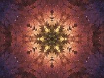 Lichte vurige fractal mandala vector illustratie