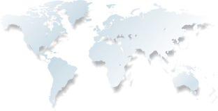 Lichte wereldkaart - vector