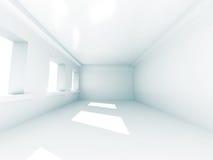 Lichte Witte Zaal met Vensters Binnenlandse achtergrond Royalty-vrije Stock Foto