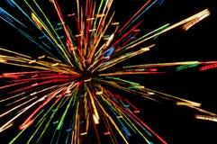 Lichteffect van Kerstmislichten Stock Foto