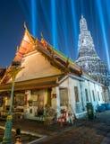 Lichteffect van pagode van dageraadtempel Royalty-vrije Stock Foto's