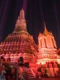 Lichteffect van pagode van dageraadtempel Royalty-vrije Stock Foto