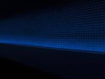 Lichteffekt des blauen Musterhintergrundes Stockfotos