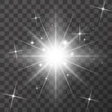 Lichteffekt des Glühens stock abbildung