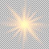 Lichteffekt des Glühens lizenzfreie abbildung