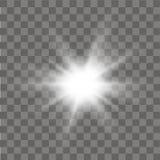 Lichteffekt des Glühens Abstrakter Effekt des Beleuchtungsaufflackerns Vektor Stockfoto