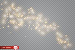 Lichteffekt des Glühens Auch im corel abgehobenen Betrag Weihnachtsgrelles Konzept stock abbildung