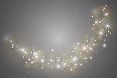 Lichteffekt des Glühens Auch im corel abgehobenen Betrag Weihnachtsgrelles Konzept lizenzfreie stockfotografie