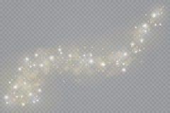 Lichteffekt des Glühens Auch im corel abgehobenen Betrag Weihnachtsgrelles Konzept lizenzfreie abbildung