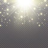 Lichteffekt des Glühens Wolke der funkelnden Staub Vektorillustration Weihnachtsgrelles Konzept vektor abbildung