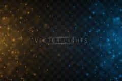 Lichteffekt des magischen Glühens lizenzfreie abbildung