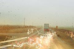 Lichteffekte auf die Straße Stockfotografie